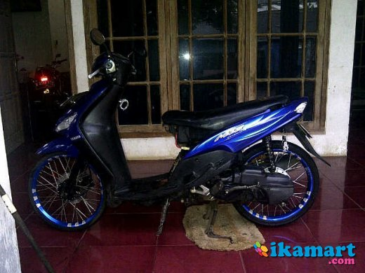 ide modifikasi mio sporty warna biru