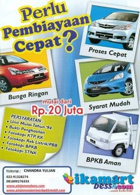 Promo Kerdit Bandung Pinjaman Leasing Bpkb Mobil Resmi 02291328274