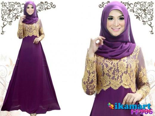 Dress Code Ff905 Purple Baju Wanita