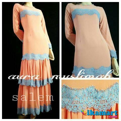 Alexandra Dress Salem Baju Wanita