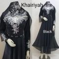 Gamis Khairiyah + shawl Black