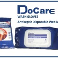 DoCare Wash Gloves DISPOSABLE ANTIBACTERIAL WET BAG HUB 085641037796