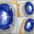Batu Mulia Vivid Blue SAFIR Star Burma No Heat - SPS 188