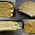 Sabuk Buckle Harley Gold Claw