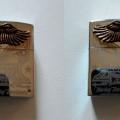 Korek Gas Ukir Eagle Harley Logo Chrome Metal