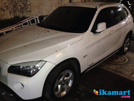 jual bmw x1 diesel 2011 putih pajak panjang