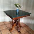 meja marmer  hijau 70 x 70 cm
