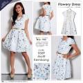 Blue Pink Birdie – Flowery Dress (#0369) | Dress Korea | Dress Import