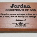 Gantungan Kunci Nama Scripture (Jordan) | Gantungan Kunci Nama Kayu