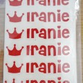 Sticker Nama Mini (Iranie – Merah – 1 Gambar) | Label Nama Murah