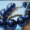 Gelang Rantai 14 Blue Pearl (PAD-G1) | Gelang Handmade