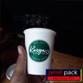 Plastik cup Sealer Sablon Desain Bebas