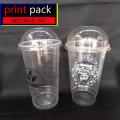 Sablon/Printing GELAS Thai Tea (GELAS CUP PLASTIK PET)16oz