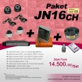 PAKET JN16CH DVR JUAN 16 Channel HDD EFFIO Gen-02 Harga Murah