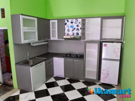 Kitchen Set Minimalis Bentuk Lurus Peralatan Rumah
