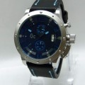 GUESS Collection 6014 Leather (BLU) For Men