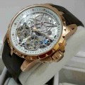 Roger Dubuis Double Tourbillon Rosegold Dark Brown Leather Automatic