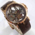 Roger Dubuis 2953 Rosegold Brown Leather Automatic