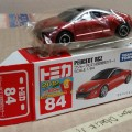 Peugeot RCZ Takara Tomy No. 84 0459082 Scale 1/64 Dark Red Metallic