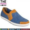 Sepatu Pria Denim Blue Brown