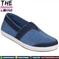 Sepatu Pria Denim With Tie - Blue Navy