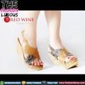 Sepatu Wedges Wanita Import - Red Wine BK228 Brown