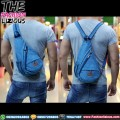 Tas Pria Kasual Import - Waistbag 856 Light Blue
