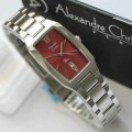 Jam Tangan Alexandre Christie 2455 Silver Red