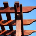 pargola kayu dan taman minimalis