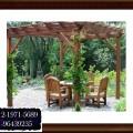 pergola kayu untuk taman, teras dan kolam