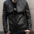 Jaket Korean Style-Black Leather SK-26