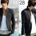 Blazer Black Style Sleting Lee Min Ho Edition