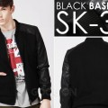 Jaket Black Baseball Style