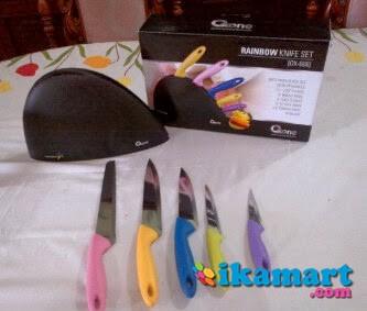 Oxone OX 606 Rainbow Knife Set Pisau Dapur Alat Pemotong Nakami Kualitas Dunia ...