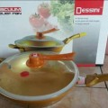 SALE Dessini Italy Alat Dapur Modern Panci Presto Golden Wok Vacuum Relief Gold Pan