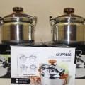 OX2004 Alupress Panci Presto Oxone Ukuran 4 8 12 20 dan 40 Liter Pressure Cooker Maxim