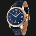 JAM AIGNER Triento A09013 Blue Texture Dial Blue Genuine Leather Strap