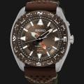 jam Seiko Prospex SUN061P1 Land Kinetic GMT 100M Genuine Leather Strap