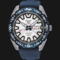 jam Seiko 5 Sports SRP783K1 Automatic White Dial Blue Rubber Strap Limited