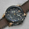 jam Expedition 6402 Black Rosegold (Brown leather)