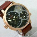 jam Harley Davidson Dual Time Rosegold (Leather strap)
