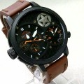 jam Harley Davidson Dual Time Black (Leather strap)