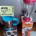 grosir skinny moo self stirring mug mixer / gelas pengaduk otomatis