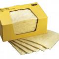 kain kertas pembersih cairan kimia 3M,chemical sorbent pad pd914dd