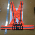 rompi karet orange,safety vest rubber reflective elastic V shape