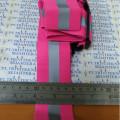safety rubber reflective elastic V shape,rompi karet pink