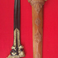 Keris Buto Makoro Kinatah Emas Asli dan Tua Era Kerajaan Madura Kuno
