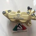 kaliper brembo 4 piston 1 pin 34/30 gold original