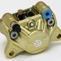 Kaliper brembo belakang 2 piston made oin italy gold