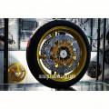 Velg Delkevic Dobel Disc depan gold + ban Batlax S21 Uk.120/70